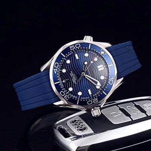 calidad superior de lujo del reloj de mar 007 james relojes para hombre estilo ocho 300m de línea de 42 mm mira el reloj de movimiento automático masculina