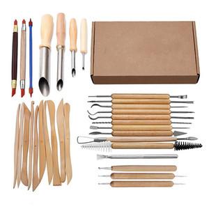 31pcs Artes Crafts arcilla para esculpir las herramientas del conjunto herramienta de talla Kit Cerámica Cerámica Asa de Madera Herramientas de modelado de arcilla