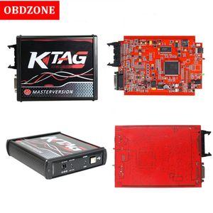 Ktag unité principale en ligne V7.020 Maître Ktag 7,020 v2.23 K étiquette rouge PCB en ligne maître ECU Programmer avec 4 LED Aucun jeton limitée