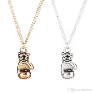 Anhänger Halskette Gold / Silber vergoldet Mini Boxhandschuh Halskette Boxen Schmuck Cool Anhänger für Männer Jungen Kette Halsketten