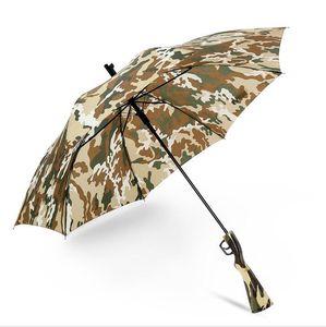 Camouflage Parapluie Survie 98k Long Poignée Parapluies Semi-Automatique Pliant Protection Solaire Pêche Randonnée Parapluie Pistolet Poignée Parapluies GGA2449
