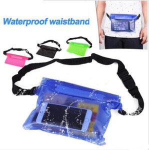 Paquete de la cintura universal impermeable a prueba de agua de la bolsa del bolso seco submarino de bolsillo para el teléfono móvil de la cubierta del teléfono móvil Samsung dinero iphone