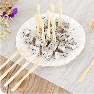 80 pz / set di bambù forchetta da frutta partito buffet forchette cupcake festival di nozze forniture per bar forchette usa e getta conviviale dessert cak fork BH2299 ZX