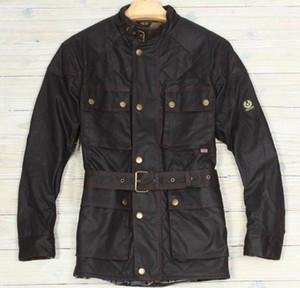 2019 Nueva chaqueta de bombardero de la chaqueta de los hombres Veste Tourist Trophy Cera de algodón para hombres kurtka Turystyczna Giubbotti Cerati Moto Y191104 Escudo