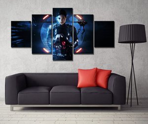 Home Decor Modular Poster Pictures Wall Art 5 Panel Science Fiction Movie Canvas Painting Printed Living Room Frame
