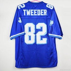 Дешевые пользовательские Charlie Tweeder #82 West Canaan Coyotes Varsity синий футбол Джерси сшитые настроить любое число имя мужчины женщины молодежь XS-5XL
