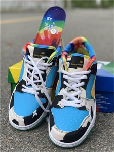 Authentic Ben &Jerry &#039 ;S X Sb Dunk Low Pro Qs Chunky Dunky Casual Shoes Men Women Lagoon Pulse University Gold Cu3244 -100 Sports Wit