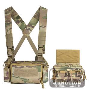 Tactical Semplice versione 3 Chest Rig multicam leggera armatura portante Magazine Pouch Per caccia di Chest Rig