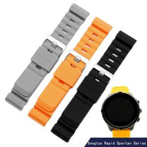 24mm En Caoutchouc Bracelet Pour Suunto D5 Montre Bande Suunto 9 Montre Bracelet Spartan Sport Bracelet En Silicone Bracelet