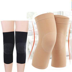النساء تنفس الركبة حامية رقيقة الحركة الحياكة منصات الركبة المشتركة الساق غمد دافئ الصيف الجري الرياضية الركبة دعم ZZA975