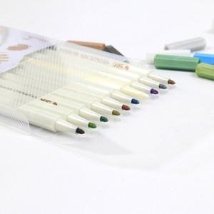 20190622 10 cores caneta de tinta álbum de fotos DIY acessório caneta marcador caneta escrita