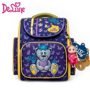 Bolsa precio delune ortopédicos niñas Escuela de Fábrica princesa del oso de la historieta 3D mochilas impermeables para niños Mochila