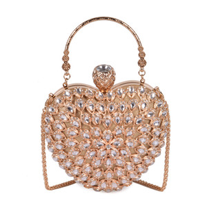 Beading Wedding Party nupcial Cristal Mulheres Evening Clutch Bag rosa Sugao lindo Pérola saco sacos CROSSBODY Bolsas New Style Mão