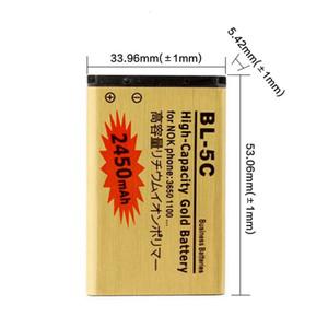 BL5C BL-5C 4C Gold Battery для 1000/1010/1100/1108/1110/1111/1112 / 1116/2730/2710 2730C 3100 3109C 3110C BL-5C аккумулятор