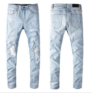 Diseñador Jeans para hombre 2020 de la nueva manera de estiramiento delgados rectos pantalones vaqueros ocasionales del dril de Trend hombres al por mayor