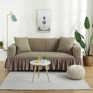 Stretch Slipcovers divano copertura all-inclusive antiscivolo sezionale elastica completa Divano copridivano asciugamano singolo / due / tre posti