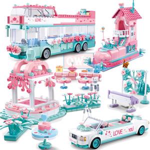 Stadt Hochzeit Auto Freund Romantische Hochzeit Kleid Model Building Blocks Bricks Prinzessin Prinz-Spielzeug-Kind-Geschenk