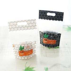 크리 에이 티브 선인장 흑백 플라스틱 포장 가방 사탕 쿠키 Nougat 웨딩 파티 선물 가방에 대 한 자체 밀봉 된 지퍼 가방