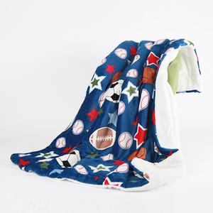 150 * 200 Baseball Blanket Impressão Digital softball do futebol do futebol cobertores quentes Tapete Duplo Plush Cabo Lã Toalha GGA2671 quente