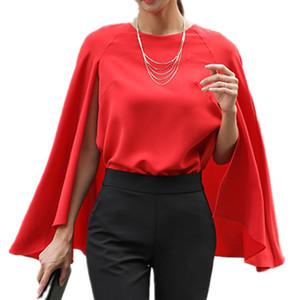 2018 nuove donne di modo camicie falso in due pezzi mantello manica del capo camicia estate femminile chiffon camicetta camisas mujer chemises femme j190614