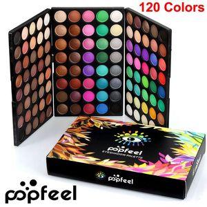 Popfeel Eye Shadow Palette 120 Colors makeup Eyeshadow Palette Nude Eye Shadow Kit Matte Shimmer Eyeshadow Smoky Palette Brand Cosmetics