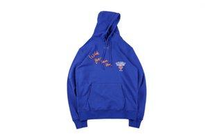 Invierno negro con capucha naranja Hombes Sudaderas Tops Wish You Were Oye hombre Knicks sudaderas 19SS otoño