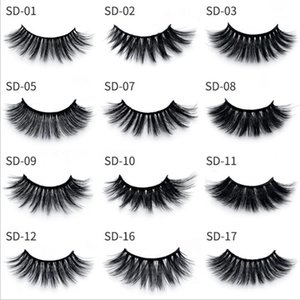 Fast Shipping!!!! 3D Mink Eyelashes Eye makeup Mink False lashes Soft Natural Thick Fake Eyelashes 3D Eye Lashes Extension Beauty Tools