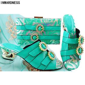 Los últimos Italian Shoes and Bags Juego de las mujeres Zapatos y bolsos para que coincida Conjunto Italia Mujeres boda africana con el bolso