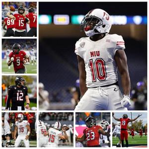 NCAA NIU Northern Illinois HuskiesJerseys George Bork Jersey Mark Kellar Erik Abrell Mark Aitken College Football Jerseys Custom Stitched