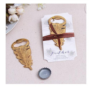 Elegant Gold Peacock Feathers Bear Bottle Opener Wedding Favors Gift Party Favor Guests gifts Souvenirs Giveaways Peacock Feathers Bear