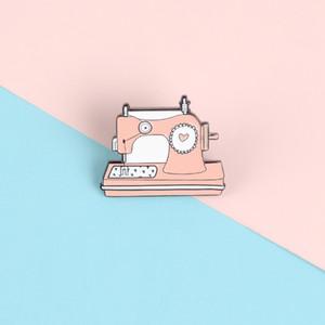 Швейные машины Эмаль Pins ткачество Love Heart броши Жетоны сумка одежды лацкан пару ювелирные подарки для друзей