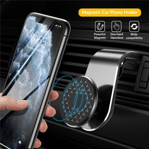 Magnetic Car Phone Holder Air Vent Clip Mount Stand Magnet GPS Navigation Bracelet Metal Magnetic Holder Auto Rotation