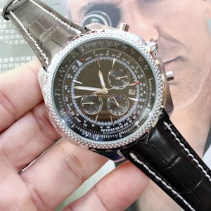 Tous Dials travail marque Top Luxury Design Hommes mécaniques Montres Homme Automatique Montre cuir Montres Bracelet date Horloge Montres-bracelets