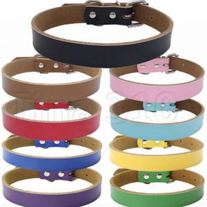 puro couro de couro animal de estimação colar de moda 9-color de alto grau de acessórios cão engrossado cão de tração cadeia de moda T2I5101
