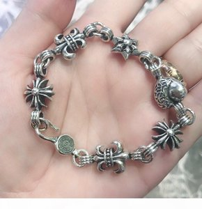 925 sterling silver cross designer bracelets bangles Design mens and Womens Party Wedding Lovers gift Luxury Hip hop Jewelry with box