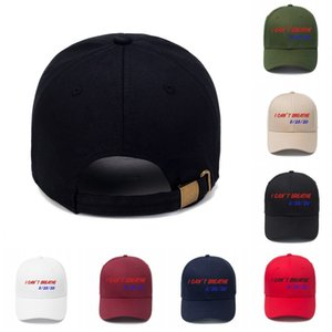 DHL Shipping I Can't Breathe Hat Embroidery Letter Baseball Cap Adjustable Outdoor Summer Snapback Hats for Man Women 7 Colors X228FZ