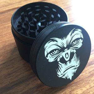 4layer 50mm hierba Tabaco Grinder de aleación de zinc de la especia hierba Grinder chimpancé Cara humo accesorios de fumar Crusher