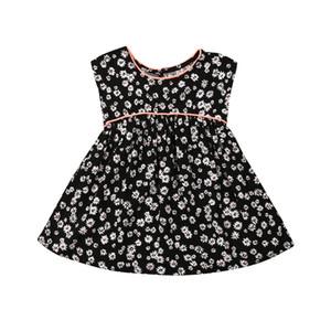 Nette Kleinkind-Kind-Baby-Kind-Blumen-Mädchen-Kleid-Druck-Partei-Hochzeits-Kleidung-Prinzessin Gown Formal Dresses Sundress Clothings