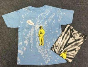 قمصان صيفية قصيرة الكم طاقم الرقبة Tees Designer Contract Color Tshanks Fashion Patchwork Print T