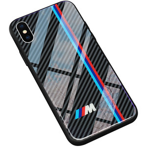 AMG BMW Tempered Glass Sport Case For iPhone XS Max XR XS X 8 Plus 7 6S 6 Plus Samsung S10