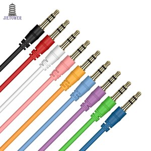 Cable auxiliar macho a macho Cable de audio color Car Audio 3 5 mm Jack Plug Cable AUX para auriculares MP3 500 unids