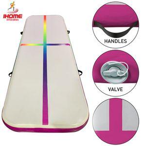 2M AirTrack Gonflable Gymnastique Tapis Jeux olympiques Jeux olympiques Artistique Fitness Débutant Plancher Tapis de trampoline Tapis de trampoline