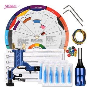 Pro Machine Rotary Complete Tattoo Set Rotary Machine Starter Kit Pen Complete Tattoo Kit Professional Rotary Motor Machine Gun