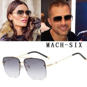 DPZ NEUE Art und Weise klassische Mach Sechs Stil Gradient Pilot Sonnenbrille kühle Mann-Weinlese-Marke Design Sun Glasses