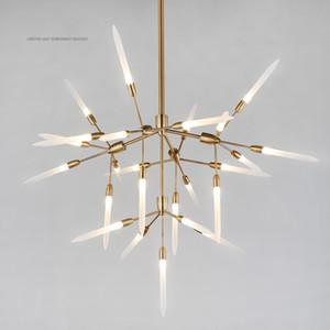 Çağdaş, modern avize restoranda basit bir atmosfer tasarımcı İskandinav salon avize yaratıcı modeli oda kişilik sanat lamba