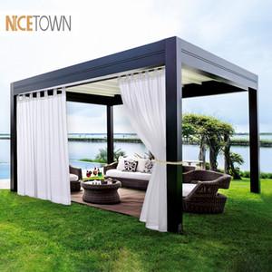 NICETOWN duplas cortinas Painéis para PatioGarden Tab Top impermeável ao ar livre Indoor Privacidade Voile cortinas com 2 Bonus