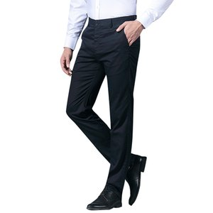 TFETTERS Yaz 2019 Erkekler Butik Düz Renk Resmi Business Suit Pantolon / Erkekler Damat Düğün Elbise Suit Pantolon Erkek pantolon