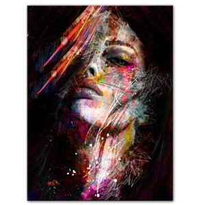Pittura astratta Graffiti Art muro stampa su tela Pop Art tela Grafica moderna Girls for Living Room Decor parete