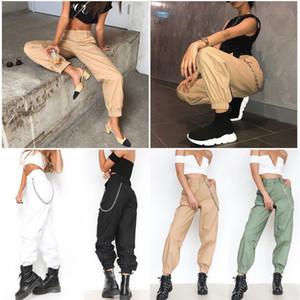 Designer Designer Sweatpants Mulheres Calças caqui Harajuku lápis calças cargo Casual Hip Hop Dance Calças de Combate Caminhadas regulares Streetwear