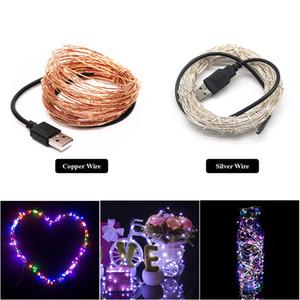USB LED String Licht 10 Mt 100 leds Splitter Lange Lebensdauer 5 V Weihnachten Urlaub Hochzeit Party Decor Festival Fee Lampe